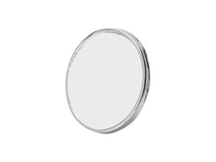 Metal Badge (Round, Silver)