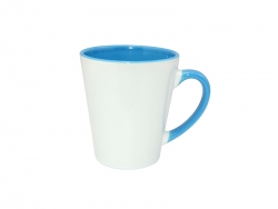 12oz Inner Rim Color Mug (Light Blue)