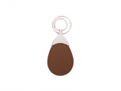 PU Leather Key Chain (Water drop, Brown)