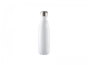 17oz Stainless Steel Coka Shaped Bottle (White)