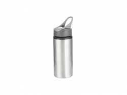 22oz/650ml Aluminum Bottle w/ Handle(Silver)