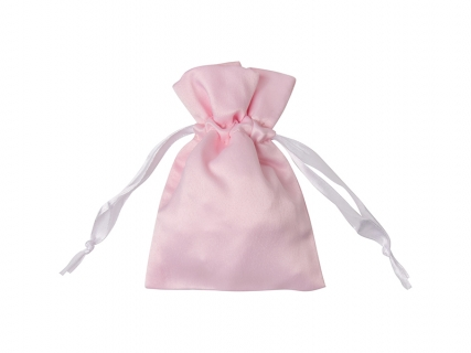 Sublimation Pink Satin Drawstring Bag(9*14cm)