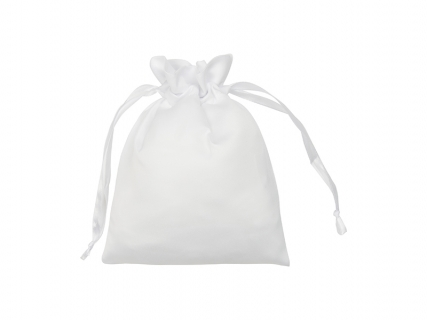 Sublimation White Satin Drawstring Bag(15*19cm)