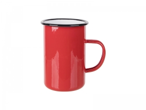 15oz/450ml Enamel Mug (Red) MOQ:2000pcs