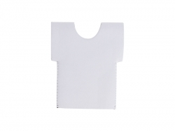 T-Shirt Shaped Neoprene Bottle Cooler(11.5*13.5cm) MOQ: 200pcs