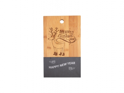 Bamboo with Slate Cutting Board (Rect,18*30cm)