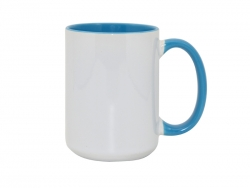 15oz Inner Rim Color - Light Blue