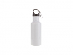 600ml Aluminium Water Bottle (White)