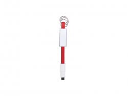 Sublimation Portable Data Cable Keychain (Large, Red)