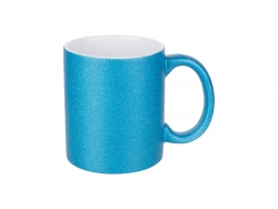 11oz/330ml Glitter Mug (Blue)