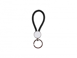 Round Braided Keyring (Black)