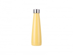 14oz/420ml Stainless Steel Pyramid Shaped Bottle (Yellow)