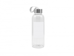 420ml Glass Bottle with Square White Patch