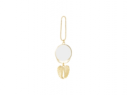 Angel wings Car Hanger Ornament (Two-Side Printable, Gold)
