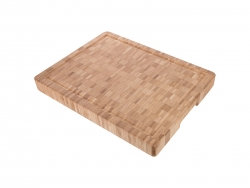 "(30*40*4cm) Bamboo Butcher Block with Groove 11.8"" x 15.7"" x 1.57"""