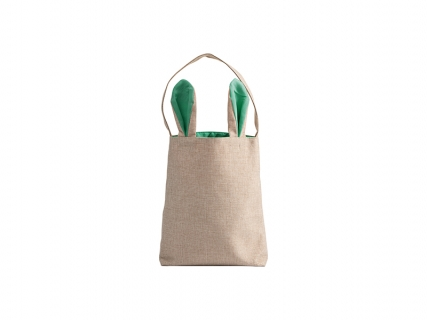 Sublimation Linen Easter Bunny Bag (Green Ears, 29*34cm)