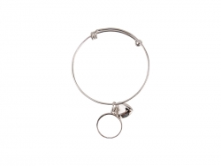 Adjustable Photo Bracelet W/ Round Insert (One Circle)