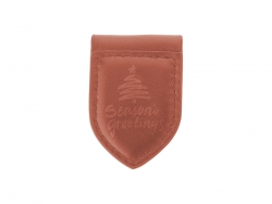 PU Leather Money Clip (Award Shape, Brown)