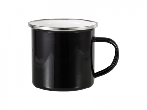 12oz Enamel Mug (Black)