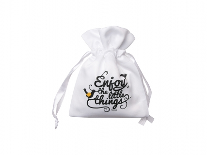 Sublimation White Satin Drawstring Bag (9*14cm)