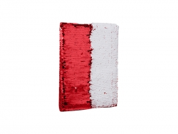 A5 Sequin Notebook (Red W/ White)
