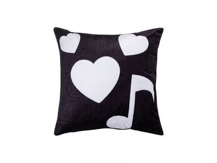 "Sublimation 4 Panel Plush Pillow Cover (Musical Note, 40*40cm/15.75""x15.75"")"