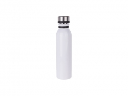 20oz/600ml Stainless Steel Flask w/ Portable Lid (White) MOQ:3000