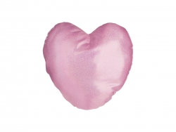 Glitter Heart Shape Pillow Cover (40*40cm,Pink)