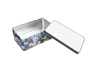 Metal Tin (19.8*12.8*7.2cm, with Puzzle Pattern)  MOQ: 3000