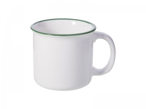 10oz/300ml Ceramic Enamel Mug (Green)