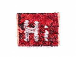 Sequin Makeup Bag / Pencil Case (Red/Silver, 16.5*20.5cm)