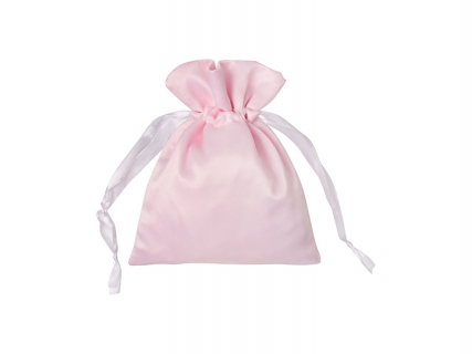 Sublimation Pink Satin Drawstring Bag(15*19cm)