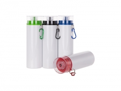 28oz/850ml Sublimation Blanks Aluminum Bottle w/ Color Lid (White)