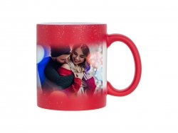 Sublimation 11oz Color Changing Mugs (StarSky Red, Frosted)