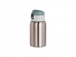 18oz/450ml Sublimation Stainless Steel Bottle with Straw (Silver)