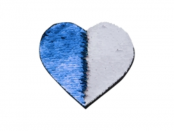 Flip Sequins Adhesive (Heart, Dark Blue W/ White)