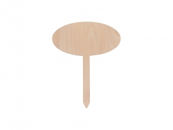 Plywood Garden Stake (Oval, 20*25cm)