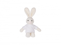 22cm Plush Rabbit w/ Shirt (White)