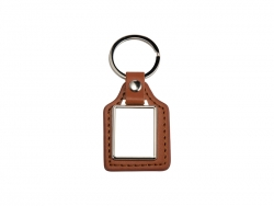 PU Key Chain(Rec, Brown)