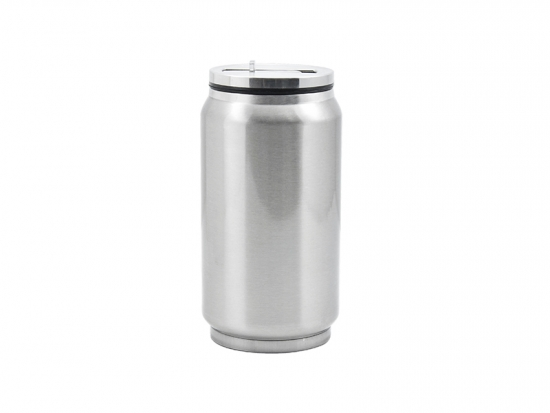 12oz stainless steel coke can with straw silver best for Coke can heater