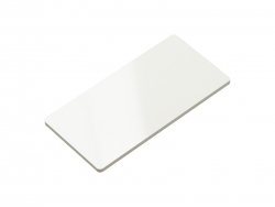 Plastic Name Badge (Rect, 3.8*7.6cm)