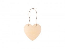 Sublimation Plywood Door Hanger (Heart-shape, 20*20cm)