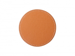 PU Leather Round Mug Coaster (Φ9.5cm,Orange)
