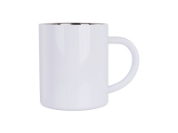 300ml Stainless Steel Mug (White)