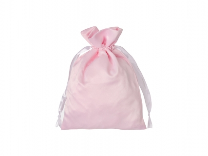 Sublimation Pink Satin Drawstring Bag(16*23cm)