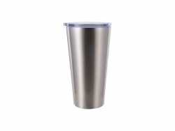 16oz/480ml Stainless Steel Tumbler (Silver)