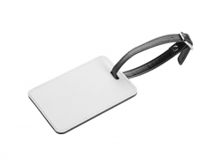 2-Sided PU Leather Luggage Tag