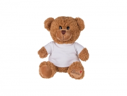 23cm Plush Teddy Bear w/ Shirt (Brown)