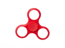 Plastic Fidget Spinner (Whirlwind, Red)