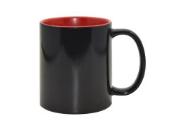 11oz Black Color Changing mug (Inner Red)